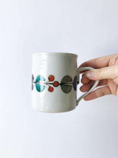九谷青窯 花繋ぎマグカップの画像