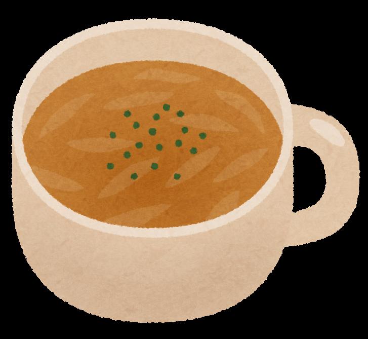 スープを入れたマグカップの画像