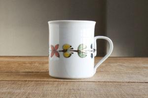 色絵花繋ぎマグカップの画像