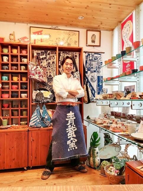 ギャラリーKACCOの店内と私の画像
