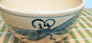 とんぼの絵柄の夏茶碗