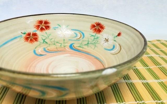 撫子の絵柄の夏茶碗の画像