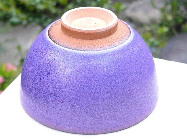 紫式部抹茶碗の底と裏の画像