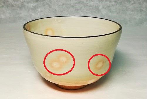 御本手の模様の茶碗の画像