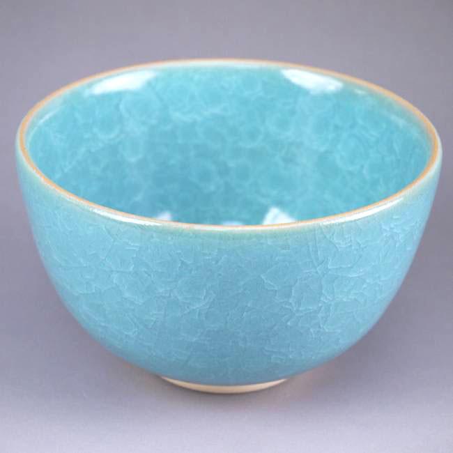 青磁抹茶茶碗・陶仙作の画像