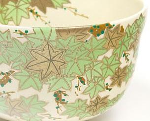 プリント絵付の抹茶碗の画像
