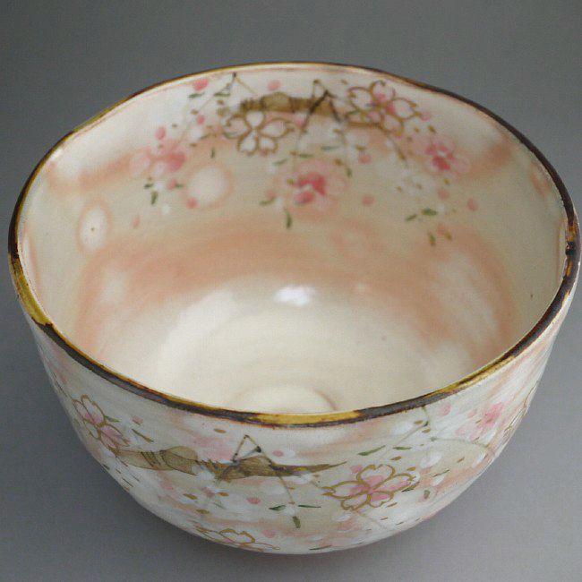 抹茶碗・京の春のフチの画像