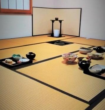 茶道の懐石料理の画像