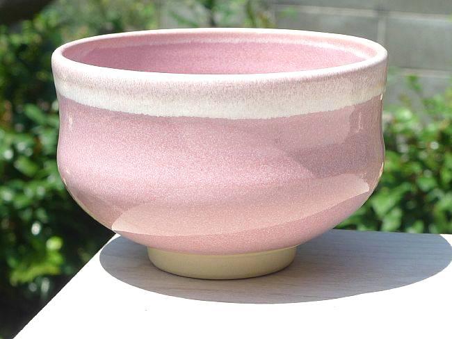 ピンク抹茶碗の画像