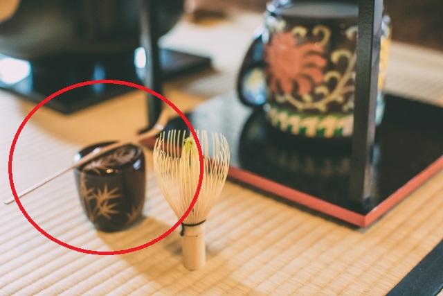 なつめと茶杓の拝見の画像