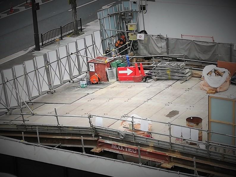 五条坂の工事現場の画像