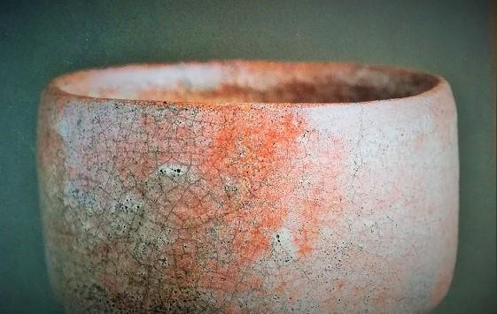 400年前の楽茶碗の飲み口の画像
