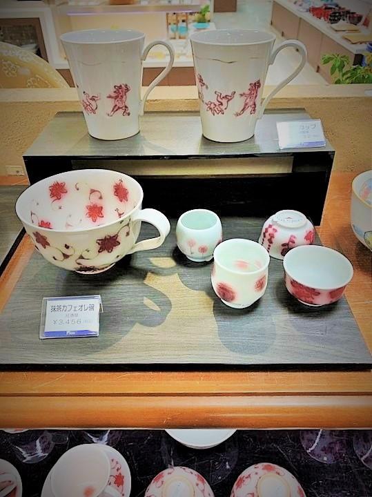 京都伊勢丹の展示会に出品した当工房の食器
