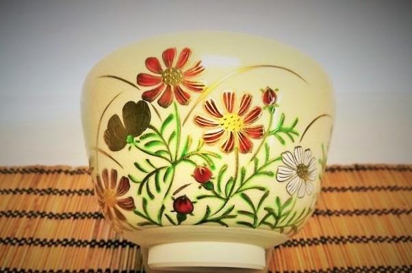 木村さまご購入の抹茶碗コスモスの画像