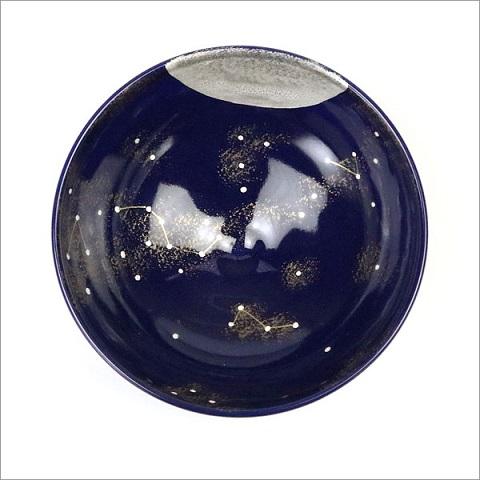 平茶碗「夏の星空」の内側の画像