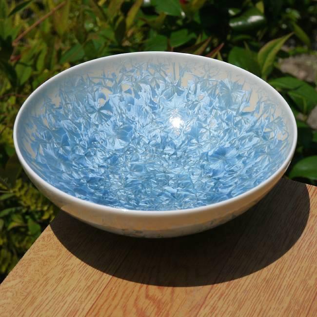 平茶碗 花結晶 縹の画像