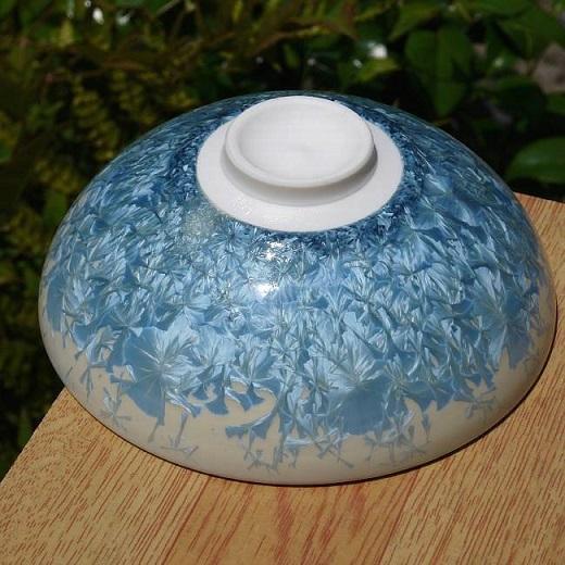 平茶碗「花結晶縹」の土の画像