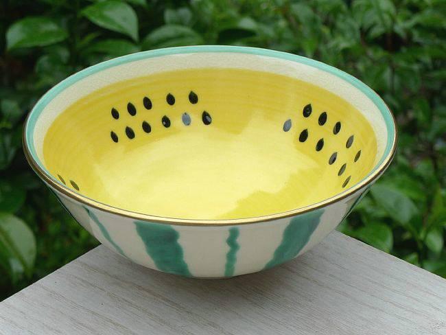 夏茶碗スイカ(黄色)の画像