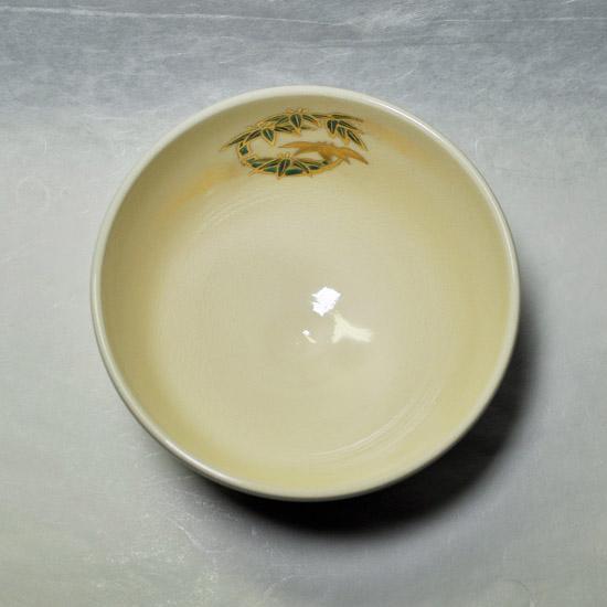 抹茶碗四君子を上から見た画像