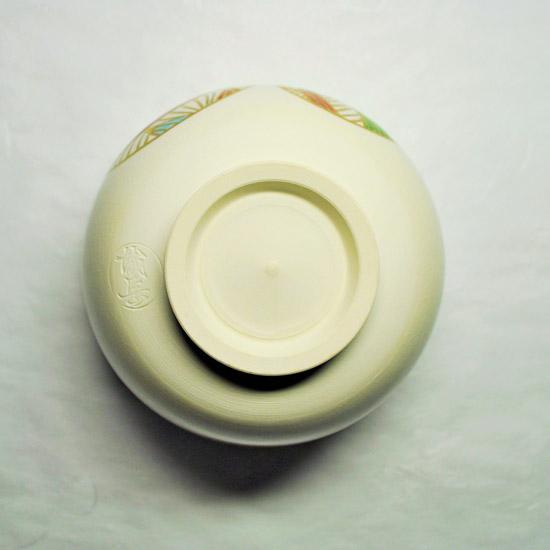 抹茶碗手まりの裏側の画像