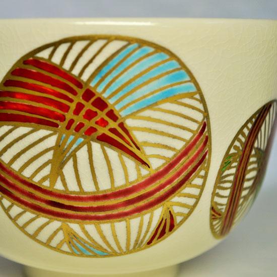 抹茶碗手まりの絵の拡大画像