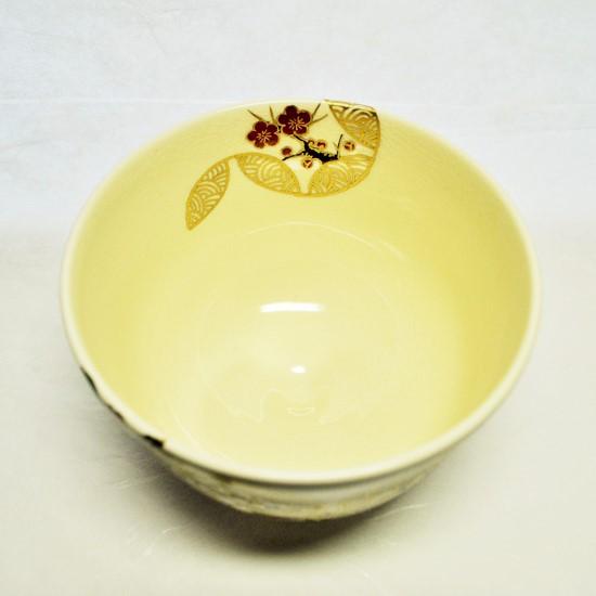 抹茶碗四季七宝つなぎを上から見た画像