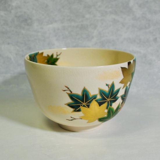 抹茶碗仁清青楓カワセミの左側の画像