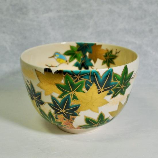 抹茶碗青楓にカワセミのメイン画像