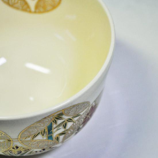 抹茶碗四季七宝つなぎの飲み口の画像
