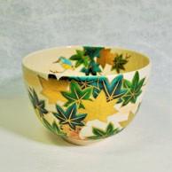 抹茶碗青楓にカワセミの商品カテゴリー画像