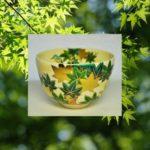 抹茶碗青楓にカワセミと青楓の画像