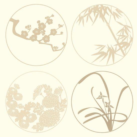 四君子の絵の画像