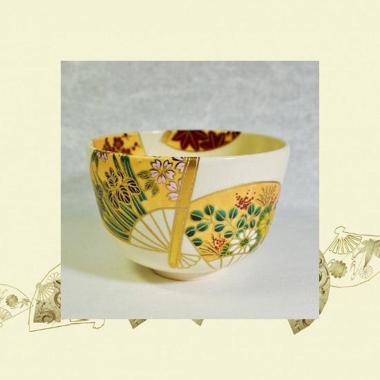 抹茶碗扇面四季のイメージ画像