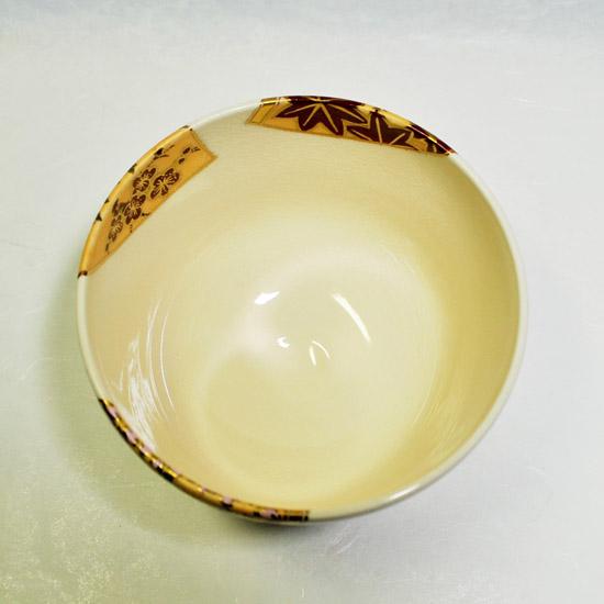 抹茶碗扇面四季の上から見た画像