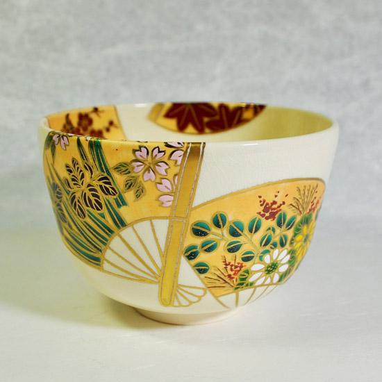 抹茶碗扇面四季の正面の画像
