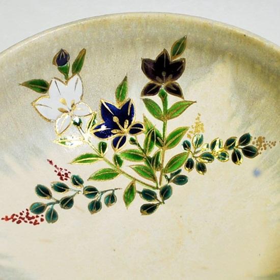 平茶碗桔梗の内側の絵の拡大画像