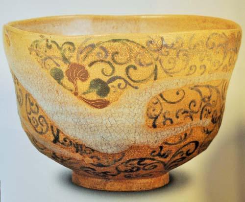 古くて汚れた抹茶碗の一例の画像