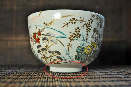 安定する高台の抹茶碗の一例の画像