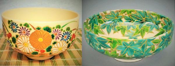 合茶碗と夏茶碗のカタチをくらべた画象