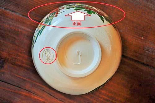 抹茶碗の正面の位置を示した画像