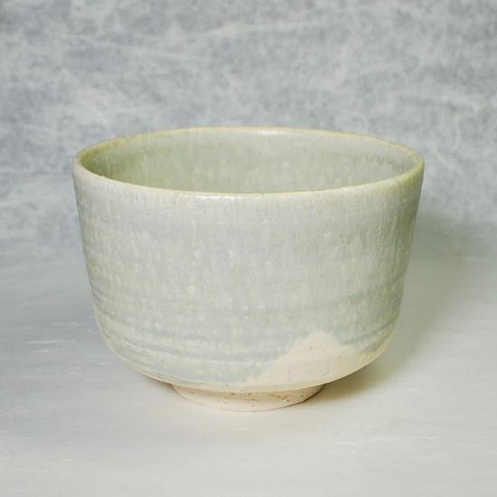 抹茶碗彩流もえぎの正面の画像