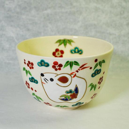 抹茶碗土鈴子と松竹梅の正面メイン画像