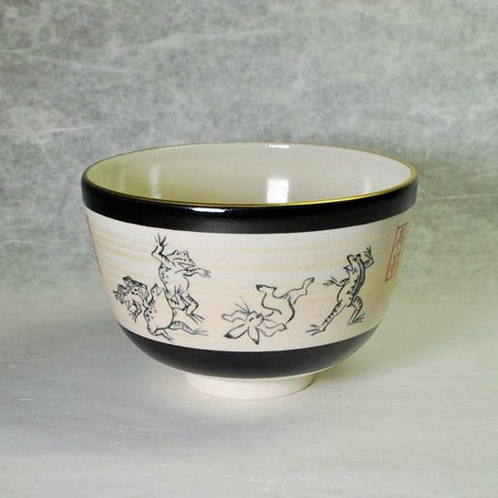 抹茶碗鳥獣戯画の左側の絵の画像