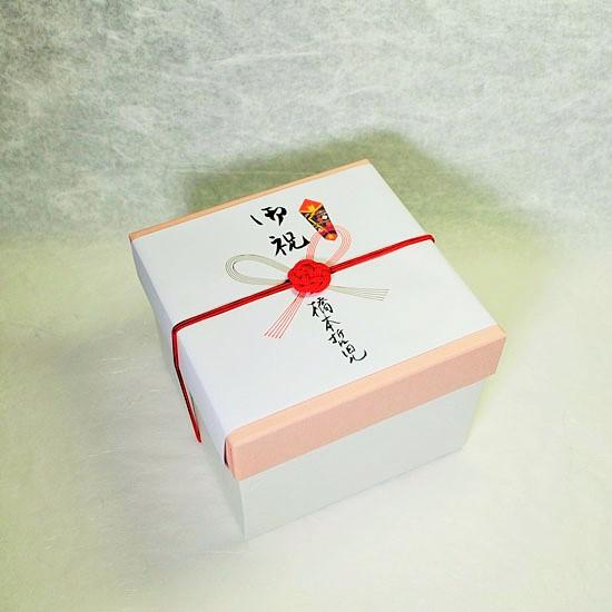 ギフトボックス紙箱とのし(蝶結び)の画像