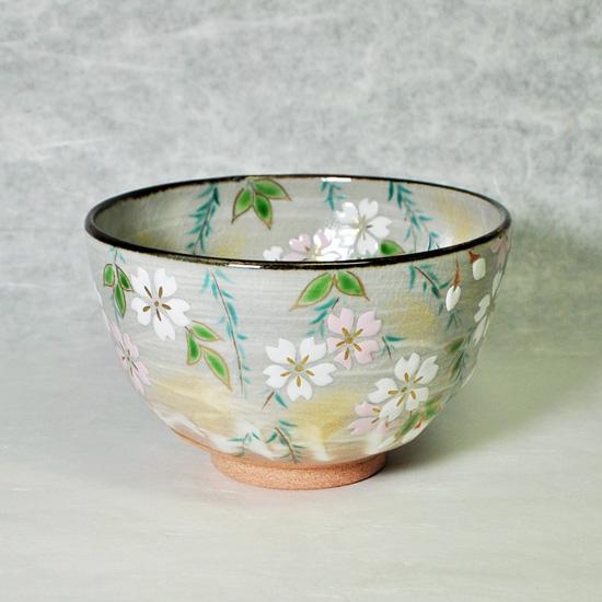 抹茶碗乾山写桜の正面の画像