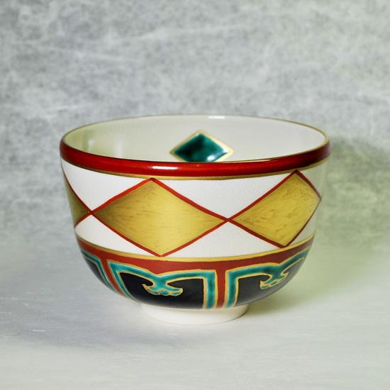 抹茶碗金菱の正面の画像