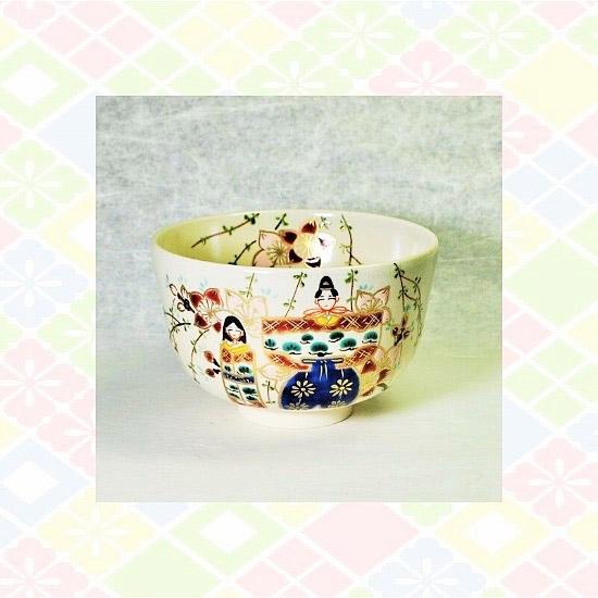 抹茶碗色絵立雛のイメージ画像