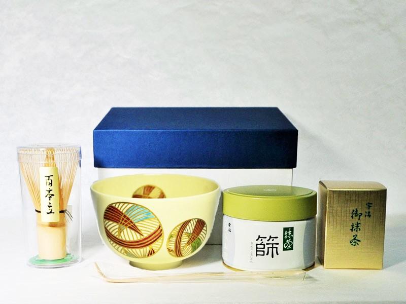 抹茶碗セット手まりのセット内容の画像