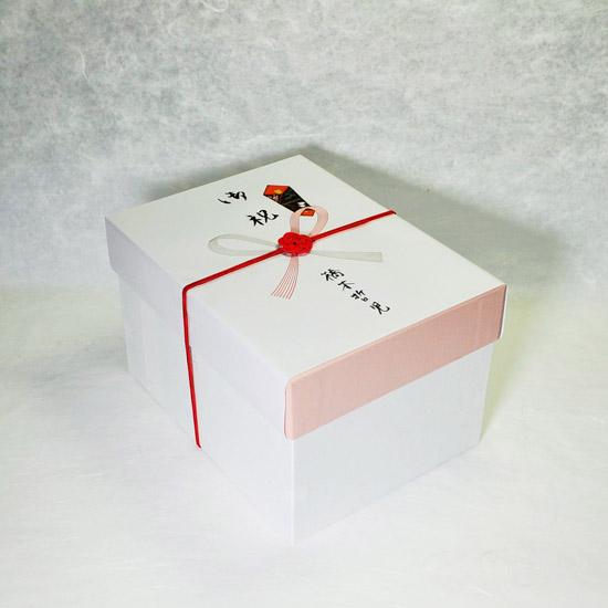 抹茶碗セットご自宅用のギフトボックスののし有りの画像