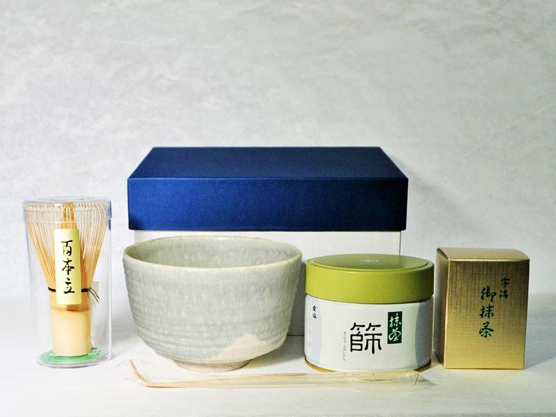 抹茶碗セットご自宅用のセット内容の画像